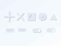 Neomorphism Fun button design buttons button neomorphic dribble 2020 daily 100 challenge web ux  ui figma ui design dailyui neomorphism