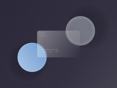 Glass Card Design design ui illustration graphic branding banking credit card creditcard free mockup freebie product design frosted glass ux user interface card design card finance glass