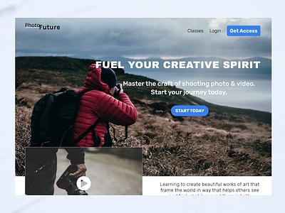 Photography / Video web web design landing page landingpage dribbbleweeklywarmup 2021 design 2021 webdesign ux  ui figma ui design weekly warm-up weeklywarmup