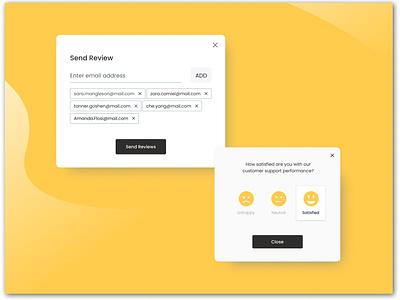 Send Review Feature icon review webdesign 2021 web ux  ui ux figma dailyui ui design
