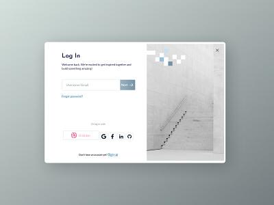 Log In (Step 1) website 2021 trend application 2021 webdesign web ux  ui ux figma ui design