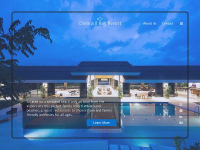 Chenquil Bay Resort landing page design landing page 2021 webdesign web ux  ui dailyui ux figma ui design