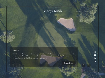 Jeremy's Ranch web design landing page design landing page landingpage webdesign web ux  ui dailyui ux figma ui design