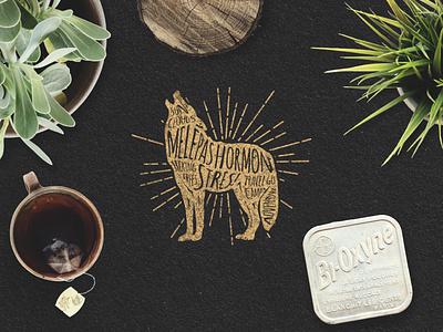 MONSTRES! Animal Typography Series branding badge vintage animal typography lettering clothing t-shirt design illustration logo graphic design