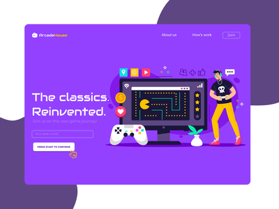 ArcadeHouse Design- DailyUI webdesign arcade game ui design dailyui