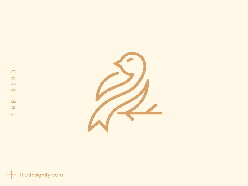 The Bird branding minimal designer designs design logos logo fly outline simple lines symbol elegance elegant brand bird animal about