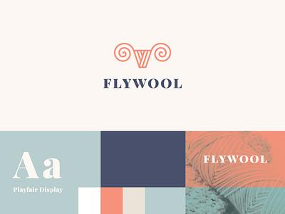 Flywool line stroke clothing woolen wild deer antler identity animal abstract flat icon mark clever branding minimal logo
