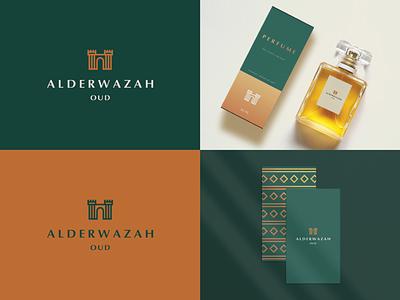 Alderwazah Oud - Branding identity luxury perfume fort package elegant gradient abstract flat icon mark clever branding minimal logo