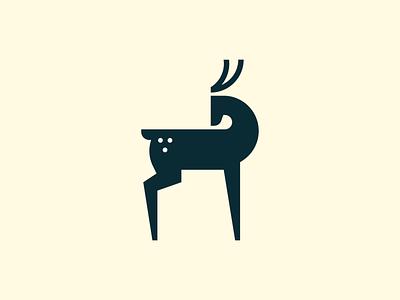 Deer mark geometry antler wild luxury elegant deer animal abstract flat icon mark clever branding minimal logo