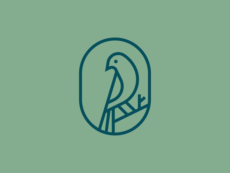Bird line nest wild elegant stroke bird identity abstract flat icon mark clever branding minimal logo