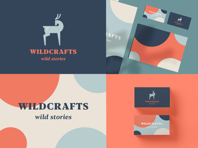Wildcrafts identity typeface pattern wild luxury elegant animal identity abstract flat icon mark clever branding minimal logo