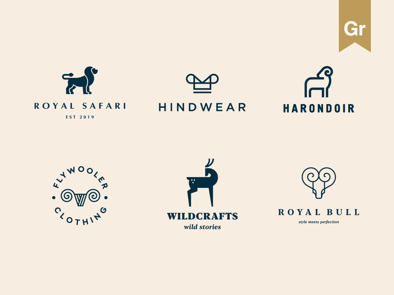 Elegant logo collection Vol. 02 luxury clothing fashion royal stroke animal identity abstract flat icon mark clever branding minimal logo