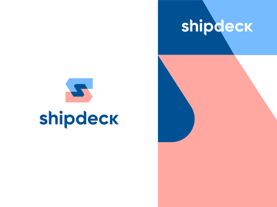 shipdeck logistics pattern negativespace technology delivery shipping growth forward monogram s letter identity abstract flat icon mark clever branding minimal logo