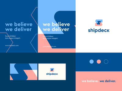 shipdeck - identity system pattern arrow forward s letter negativespace delivery shipping technology identity abstract flat icon mark clever branding minimal logo