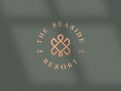 The seaside resort resort geometry stroke line turtle luxury love heart elegant gradient animal identity abstract flat icon mark clever branding minimal logo