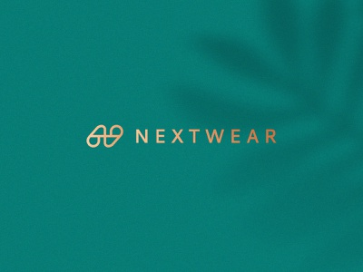 Nextwear boutique elegant stroke line female nature monogram fashion luxury gradient letter identity abstract flat icon mark clever branding minimal logo