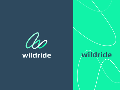 Wildride travel wild pattern line trails explore ride sports sport gradient letter identity abstract flat icon mark clever branding minimal logo