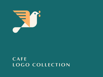 Cafe Logo Collection leaf geometry coffee cafe bird letter identity abstract flat icon mark clever branding minimal logo