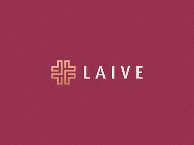 Laive graphic design typface health monogram medical women elegent luxury gradient letter identity abstract flat icon mark clever branding minimal logo