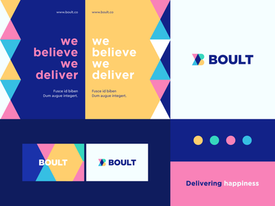 Boult - Identity system corporate bold geometry pattern travel compass arrow animal letter identity abstract flat icon mark clever branding minimal logo