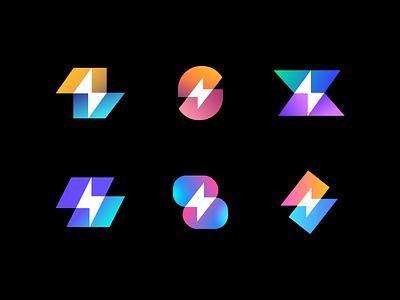 Bolt Exploration bolt geometric negativespace letter s geometry ui illustration design abstract flat icon mark clever branding minimal logo