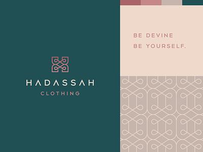 Hadassah premium luxury elegant beautiful apparel women clothing fashion monogram h letter identity abstract flat icon mark clever branding minimal logo