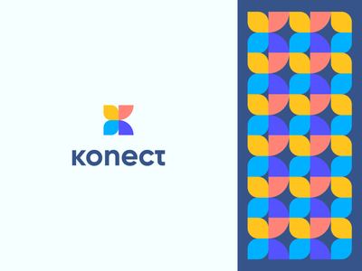 konect technology abstract beauty butterfly letter k ui design flat icon mark clever branding minimal logo