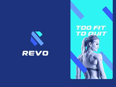Revo lines clothing women edgy speed bold fitness sports letter r ui illustration design flat icon mark clever branding minimal logo