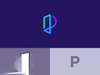 Letter P + Window mark