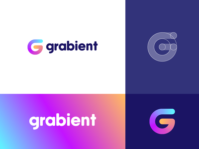 Grabient - Logo Concept letter grid g modern gradient abstact identity logo minimal