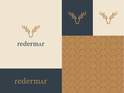 Redermer elegant wild antler shadow deer animal branding identity minimal