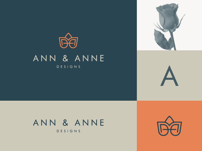 Ann & Anne clever flower rose elegant chic luxury fashion icon flat mark