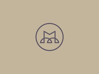 BM Monogram drid geometry flat abstract minimal elegant stroke letter minofram bm