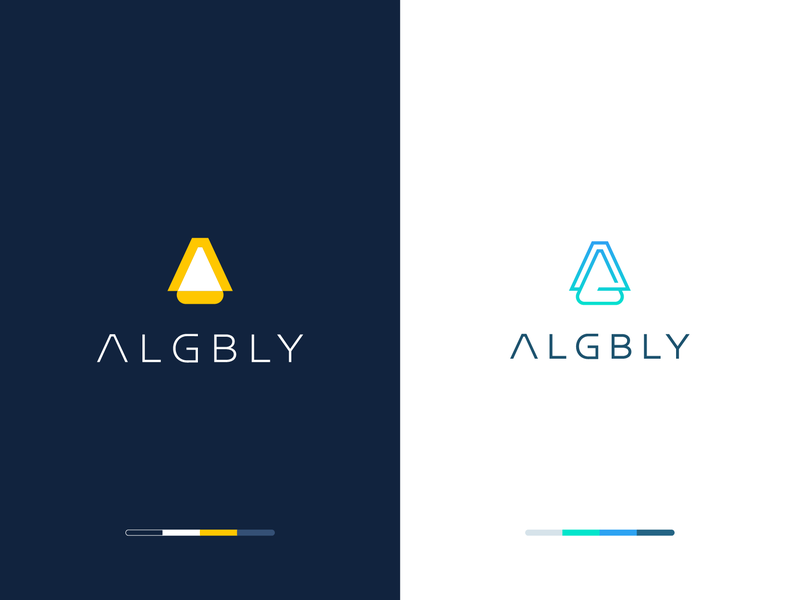 Algbly Branding electronic abstract g letter light chandelier gradiant branding logo clever