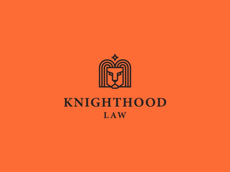 knighthood law law logo branding stroke lion animal star elegant luxury geometry