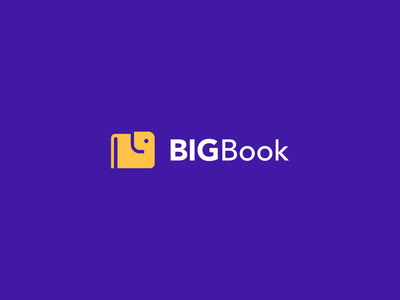 BigBook branding flat book elephant abstract identity icon mark animal clever minimal logo