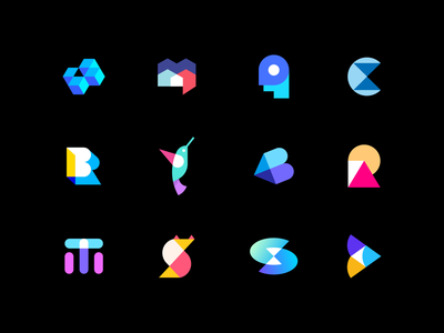 Abstract logo collection - Behance