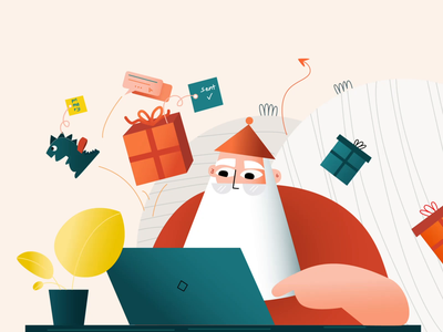 Santa prepares for Christmas creativetribe officience christmas design animation 2d illustration character aftereffects animation