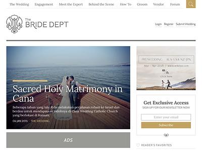 The Bride Dept - Home website
