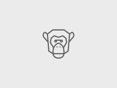 Chimp icon logo identity