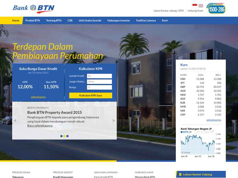 Bank BTN Website website