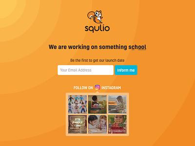 Squlio Launch Page web