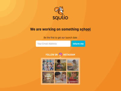 Squlio Launch Page