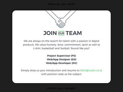 Career Popup website