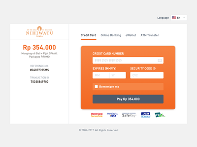 Payment Page website ui
