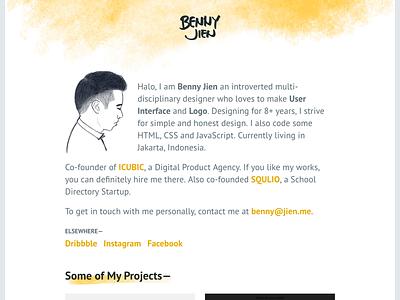 [WIP] Personal Portfolio Website minimal portfolio identity ui website