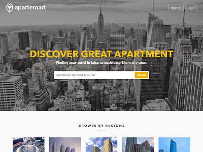 Apartemart Homepage ui website