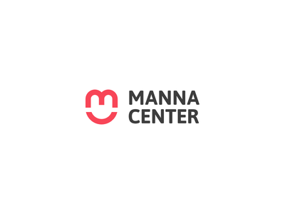 Manna Center Logo wordmark initial charity branding logo