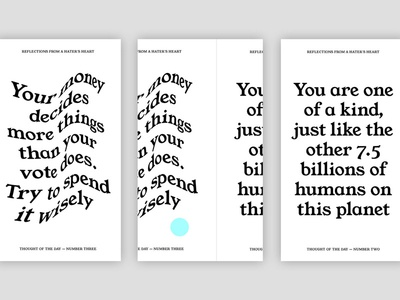 Thought of the day background screen app print identity typography branding graphic design