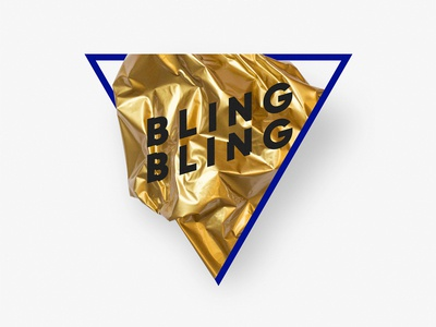 Bling Bling shooting studio typography experimental direction art design photography